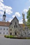 Igreja escolar de Heiligenkreuz, mais baixa Áustria Fotografia de Stock Royalty Free
