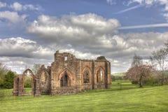 Igreja escolar de Lincluden - vista sul HDR distante Imagens de Stock Royalty Free