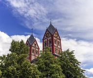 Igreja escolar de St Bartholomew, Liege, Bélgica Fotos de Stock Royalty Free