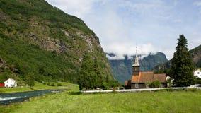 Igreja estável em Flam imagem de stock royalty free