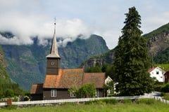 Igreja estável em Flam Fotografia de Stock Royalty Free