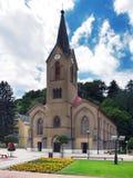 A igreja evangélica em Dolny Kubin no verão Imagens de Stock