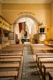 Igreja evangélica fortificada de Cincsor, a Transilvânia, Romênia Fotos de Stock