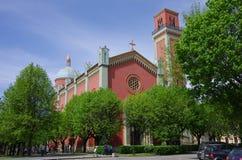 Igreja evangélica nova em Kezmarok, Eslováquia Imagens de Stock Royalty Free