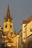 A igreja evangélica Sibiu Fotografia de Stock