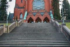 Igreja finlandesa do protestante foto de stock