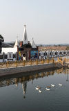 Igreja francesa da beira do lago Imagem de Stock Royalty Free