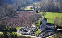 Igreja francesa do país no vale do lote Fotos de Stock