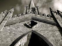 Igreja gótico assombrada Fotos de Stock Royalty Free