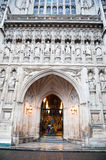 A igreja gótico da abadia de Westminster em Londres, Reino Unido Fotos de Stock