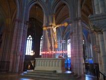 Igreja gótico em Upsália Imagens de Stock