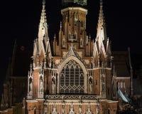 Igreja gótico no mercado de Podgorski, Krakow do ` s de St Joseph do estilo, Polônia imagem de stock