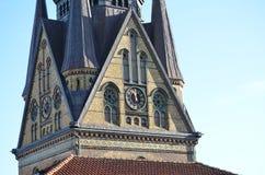Igreja gótico velha de St Nikolai em Flensburg/Alemanha Foto de Stock