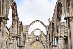 Igreja gör Carmo i Lissabon i Portugal Arkivfoton