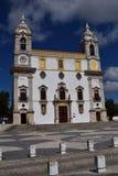 Igreja gör den Carmo kyrkan i gammal stad av Faro, Algarve, Portugal arkivfoton