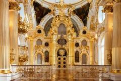 A igreja grande do palácio do inverno (eremitério do estado) em St P fotos de stock royalty free