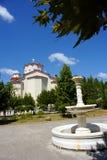 Igreja Greece de Ayios Ioannis o Rossos Foto de Stock
