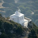 Igreja grega da vila fotografia de stock