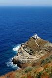 Igreja grega no console de Sifnos Foto de Stock Royalty Free