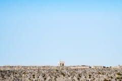 Igreja grega velha na parede de pedra Foto de Stock Royalty Free