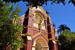 Igreja histórica de San Francisco no Santiago central Imagem de Stock