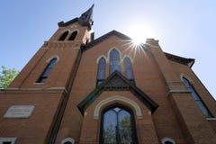 Igreja histórica do tijolo fotografia de stock