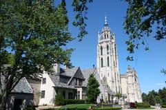 Igreja histórica em Michigan imagens de stock