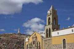 Igreja histórica em Oruro, Bolívia fotos de stock