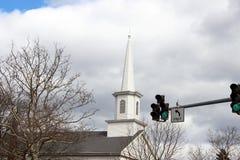 Igreja histórica velha no campo rural foto de stock royalty free