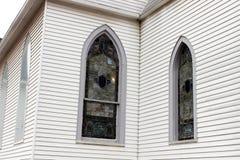 Igreja histórica velha no campo rural fotografia de stock royalty free