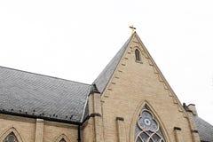 Igreja histórica velha no campo rural fotos de stock royalty free