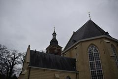Igreja holandesa velha fotografia de stock royalty free
