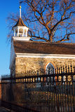 Igreja holandesa velha na cavidade sonolento, New York imagens de stock