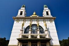 Igreja impressionante do art deco com cuppola dourado Foto de Stock Royalty Free