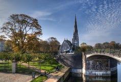 A igreja inglesa em Copenhaga imagens de stock royalty free