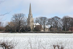 Igreja inglesa no inverno Fotos de Stock