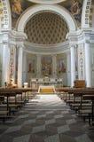 Igreja interior. Castiglione del lago. Úmbria. Fotografia de Stock Royalty Free
