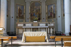 Igreja interior. Castiglione del Lago. Úmbria. Fotos de Stock Royalty Free