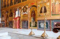 Igreja interior da ressurreição no monastério santamente da ressurreição Fotos de Stock Royalty Free