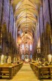 Igreja interior gótico Nuremberg Alemanha de StLawrence da igreja Fotografia de Stock