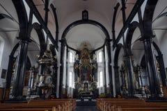 Igreja interna Fotografia de Stock Royalty Free
