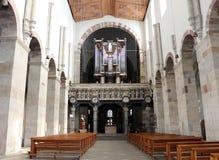 Igreja interna do St. Maria im Kapitol, água de Colônia, Alemanha Imagem de Stock
