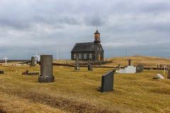 Igreja islandêsa no meio do nada Fotografia de Stock