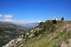 Igreja isolada em Crete foto de stock