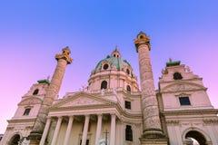 Igreja Karlskirche em Viena Áustria Fotos de Stock Royalty Free