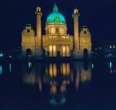 Igreja Karlskirche, Viena fotos de stock royalty free