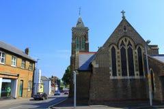Igreja Kent Reino Unido da cidade de Walmer fotografia de stock