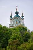 A igreja Kiev Ucrânia do ` s de St Andrew Fotos de Stock