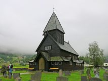 Igreja ldal da pauta musical do ½ do ¿ de Rï na chuva Fotografia de Stock