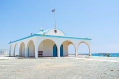 A igreja litoral Imagem de Stock